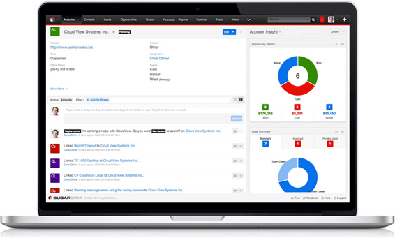 sugarcrm for support