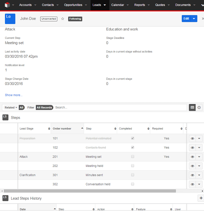 Check List for sharing and managing best practices of SugarCRM Lead Management